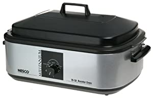 Nesco 4808-47-30 18-Quart  Roaster Oven  with Nonstick Cookwell, Millennium Silver