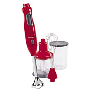KitchenAid KHB300ER Hand Blender, Empire Red