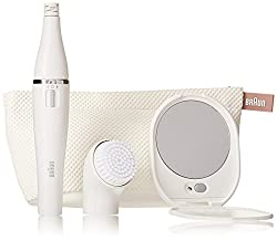 Braun Face 830 - Mini-Facial Electric Hair Removal Epilator with Facial Cleansing Brush for Women (Beauty...
