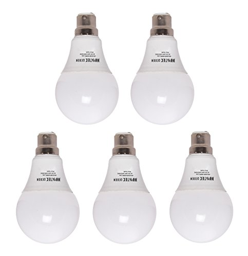 9W LED Bulb (Cool White, Pack of 5)