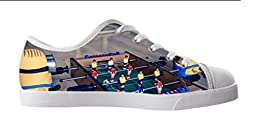 Renben Kids Girl\'s Despicable Me Minion Canvas Shoes Lace-up Low-top Sneakers Fashion Running Shoes