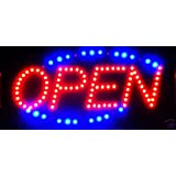 Open Led Neon Business Motion Light Sign. On/off with Chain 19*10*1 #LT001