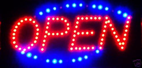 """Rhode Island Novelty 10 X 19"""" """"Open"""" Neon Sign"""