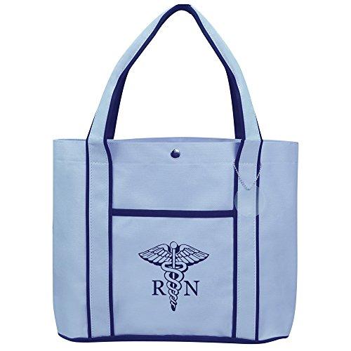 Fashion-Tote-Bag-Shopping-Beach-Purse-Medical-Symbol-RN-Registered-Nurse-Caduceus