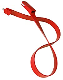 TYLT Band - Red - Flat Silicone Dual-charging Apple Lightning Connector/USB Car Charger