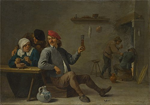 Oil Painting 'David Teniers The Younger A Man Holding A Glass And An Old Woman Lighting A Pipe ' Printing On Perfect Effect Canvas , 20 X 29 Inch / 51 X 73 Cm ,the Best Basement Artwork And Home Decor And Gifts Is This High Resolution Art Decorative Canvas Prints (Genius Console compare prices)