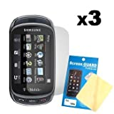 Cbus Wireless Three LCD Screen Guards / Protectors for Samsung Gravity T / Touch SGH-T669