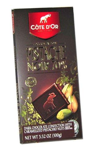 Cote D'Or Tablet Dark Chocolate W/Pistachio 70% Cocoa