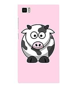 EPICCASE Cutie Cow Mobile Back Case Cover For Xiaomi Mi3 (Designer Case)