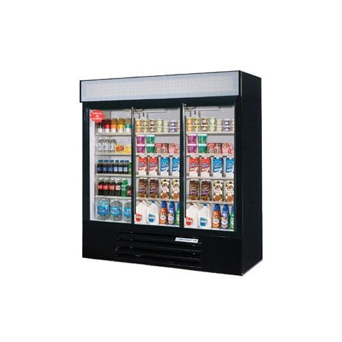 Beverage Air LV66Y-1-B-LED LumaVue Refrigerated Merchandiser with LED lighting