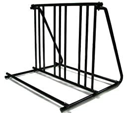 TMS? Hd Steel 1-6 Bikes Floor Mount Bicycle Park Storage Parking Rack Stand 2 3 4 5 by T-Motorsports