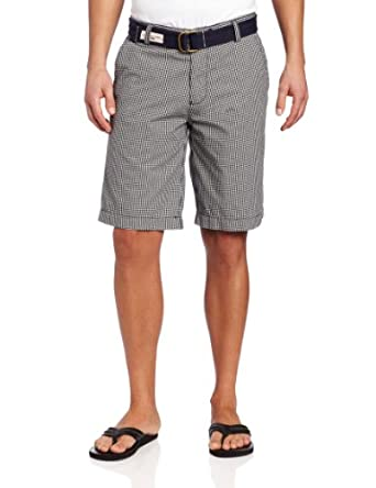 U.S. Polo Assn. Men's Short With Checkered Pattern, Classic Navy, 34