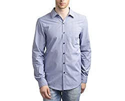 Scotchtree Men's Shirt (sco_008_Blue_Large)