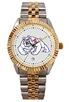 Fresno State Bulldogs Mens Executive Stainless Steel Watch
