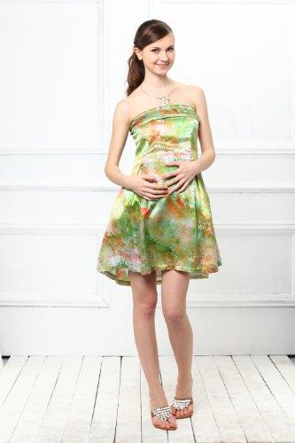 Silk Satin Baretop Nursing and Maternity Dress