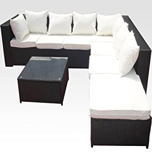 gartenm bel outlet 20tlg deluxe lounge garnitur set gruppe polyrattan sitzgruppe gartenm bel. Black Bedroom Furniture Sets. Home Design Ideas