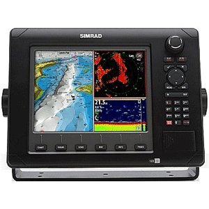 Simrad NSE8 8-Inch Color LCD Multifunction Display with Pre-loaded US Charts, GPS Antenna, Echosounder, Radar Kits