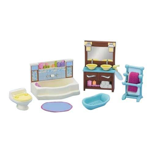Fisher Price Loving Family Dollhouse Living Room And Bathroom Furniture Set Loving Family