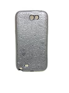 Iway Fancy ABCD Leather Finish Soft Back Cover for Samsung Galaxy Note 2 N 7100   BLACK available at Amazon for Rs.85
