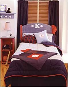 Vintage baseball full queen duvet cover for Warm biscuit bedding company