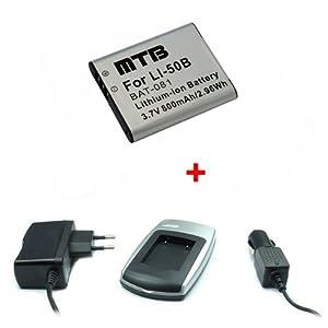 Batería + Cargador Li-50b para Olympus SZ-30MR, SZ-31MR, TOUGH TG-610, TG-620