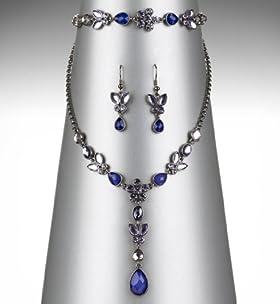 Floral Necklace, Bracelet & Earrings Set