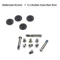 Aiskaer ® 10xBottom Screws+4 x Rubber Case Foot Feet for Macbook Pro A1278 A1286 A1297