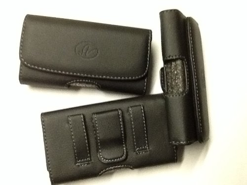 Samsung S5630Ci Phone Leather Case With Belt Clip + 2X Car Charger