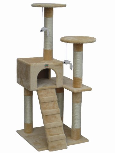 Go Pet Club Cat Tree Furniture Beige (Cat Houses & Condos compare prices)
