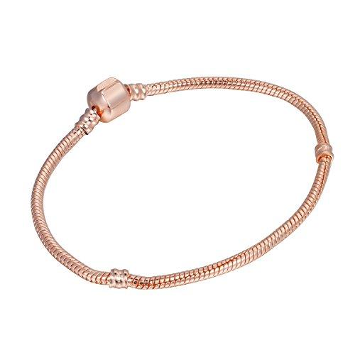 HooAMI Rose Gold Schlangenkette im europaeischen Stil DIY Armband in Laengen 14cm,16cm,17cm,18cm,19cm,20cm,21cm,22cm,24cm,25cm