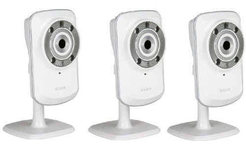 3 Telecamere Ip Wifi-N + Mydlink Dcs-932L Con Visione Notturna