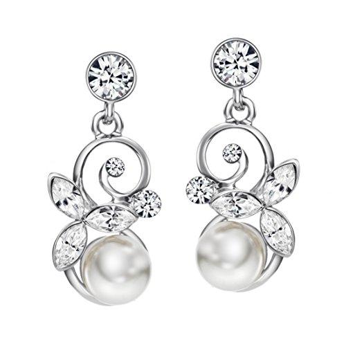 Neoglory-SWAROVSKI-Elements-Pendientes-Colgantes-Perlas-Blancas-Flores-Mariposa-Hecho-con-Genuino-Cristal-Rhinestones-Diamantes-Austriacos-Joya-Original-Regalos-Navidad-para-Mujer