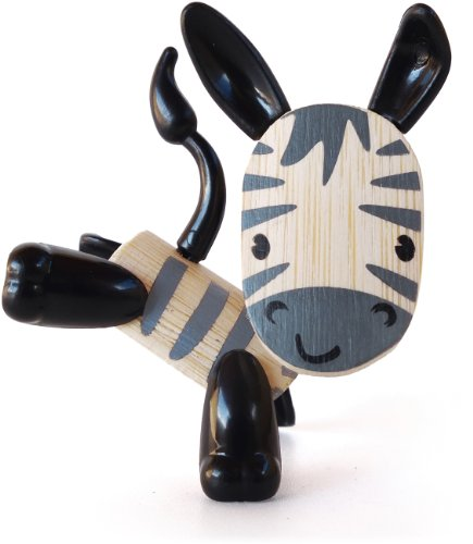 Hape Mini-mals Zebra Bamboo Play Figure