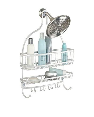 InterDesign York Lyra Jumbo Shower Caddy, Pearl White