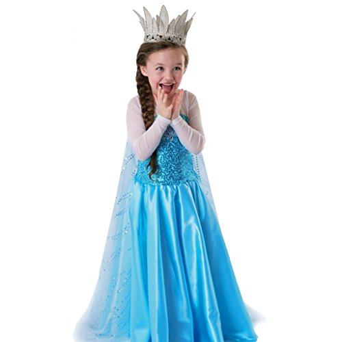 Rorychen Little Girls' Fairy Shining Dress with Gauze Cloak