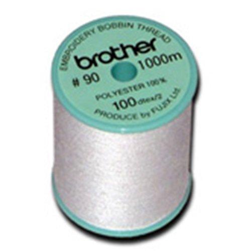 Brother 90wt White Polyester Bobbin Thread, 1100yd