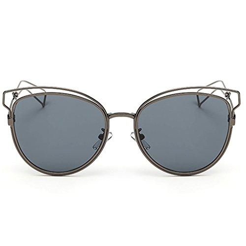 Grigio Occhiali Donna Vintage Shades Fashion Telaio occhi di gatto occhiali da sole Hot New FL5