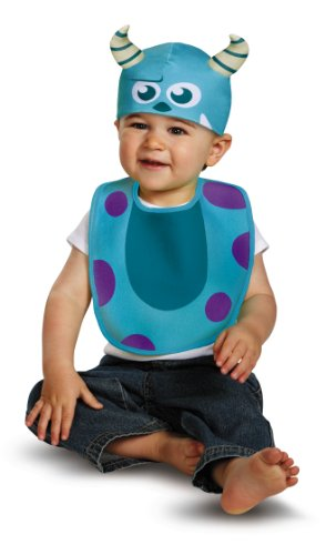 Disguise Baby's Disney Pixar Monster's University Sulley Infant Bib and Hat, Blue/Purple/White, 0-6 Months