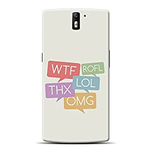 Inkif Printed Designer Case For One Plus One Multi-Coloured