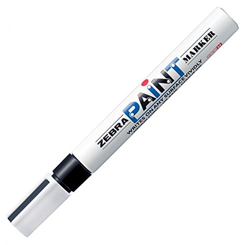 10pcs Zebra MOP-200MZ 1.5mm Free Ink System Oil-based Paint Marker (Box Set) - Black