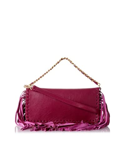HAYVEN Women's Molly Chain Strap Shoulder Bag With Fringe, Chianti As You See