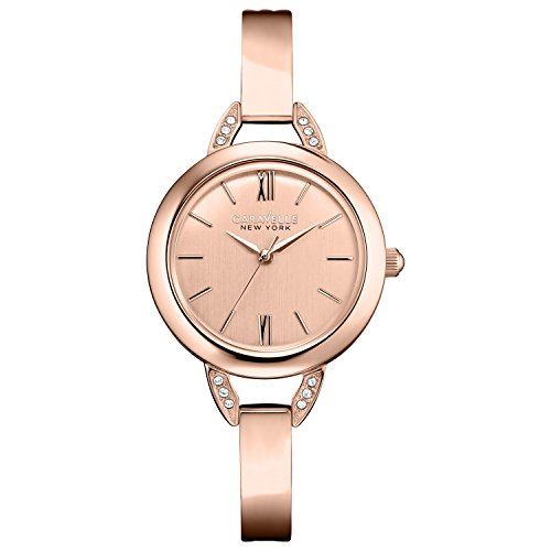 Caravelle New York Women's Quartz Watch with perfectly Petite Analog Quartz Stainless Steel Coated 44L133