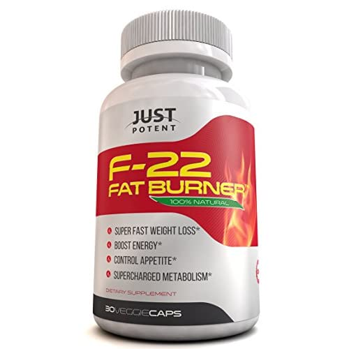 100% money back GUARANTEE if you're not completely satisfied with this product or result**    What is Just Potent F-22 Fat Burner?  The Just Potent F-22 fat burner is an all-natural pharmaceutical grade supplement full of meticulously chosen ingredie...