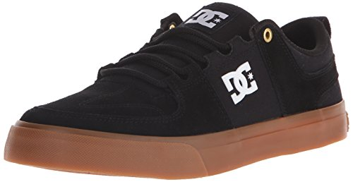 DC Men's Lynx Vulc Skateboarding Shoe, Black/Gum, 10.5 M US