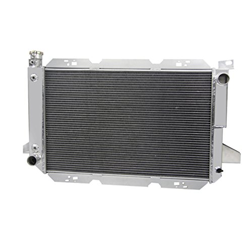 Primecooling 4 Row Core All Aluminum Radiator for Ford Truck F-150 F-250 F-350 Bronco V8 Engine 1985-1996 (F150 Radiator Cover compare prices)