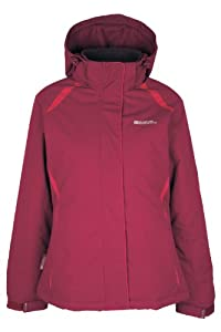 Mountain Warehouse North Veste Femme Ski Snowboard Imperméable Capuche Amovible Ultra Chaud Polaire Framboise 42