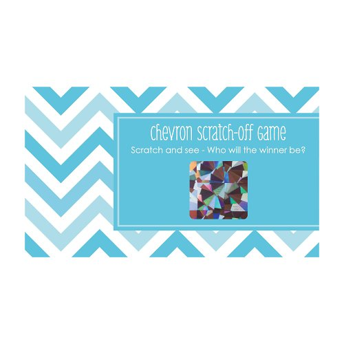 Chevron Blue - Scratch Off Cards front-702677