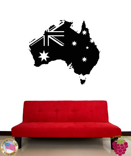 Wall Vinyl Stickers Australia Australian Flag Cool Modern Decor For Living Room Z1829M front-946241