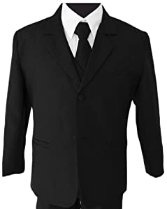 Black Suit With Tie for Boys