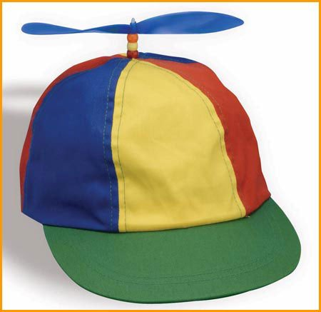 Adult Beanie Propeller Multi-colored Baseball Hat (propeller colors may vary)